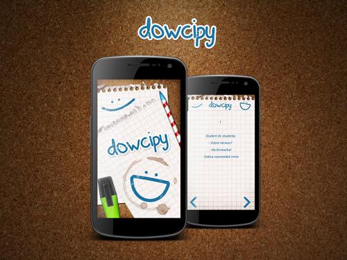 Projekt aplikacji mobilnej Dowcipy