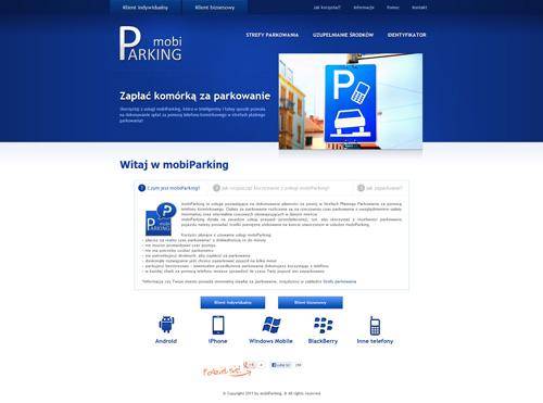 Projekt strony mobiparking.pl