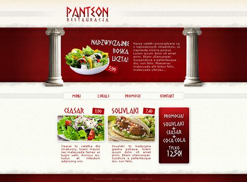 Projekt strony www restauracji