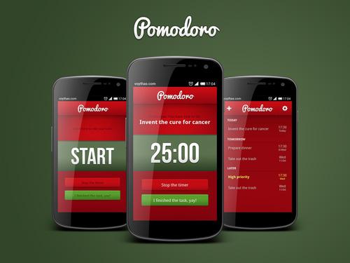 Projekt aplikacji mobilnej Pomodoro
