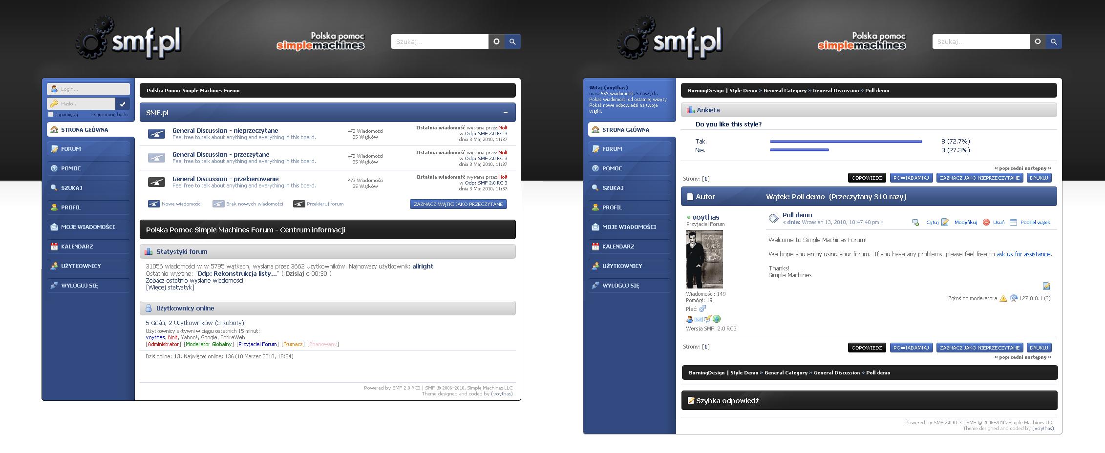 Дизайны для smf