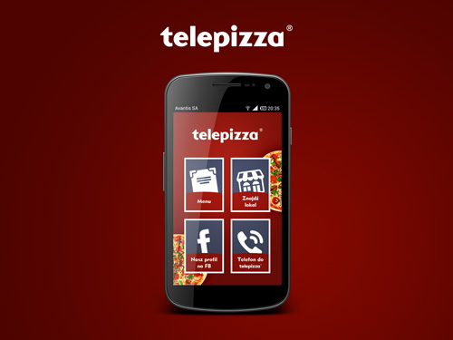 Projekt aplikacji mobilnej Telepizza