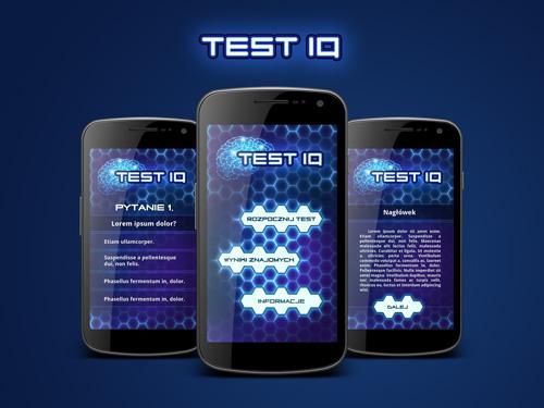 Projekt aplikacji mobilnej Test IQ